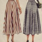"McCall 1940's Vintage Flared Skirt Pattern #7278  ~ Sz 26"" waist UNCUT"