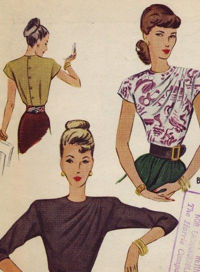 Vintage McCall #6717 Blouse Pattern ~ sz 16