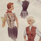 Vintage 1950's McCall's $8228 Weskit (Vest) Pattern ~  Sz 12 UNCUT