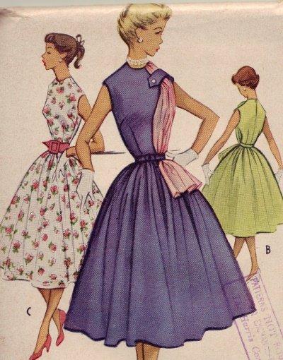 Vintage 1950's McCall #8954 Junior Dress ~ Sz 13  UNCUT