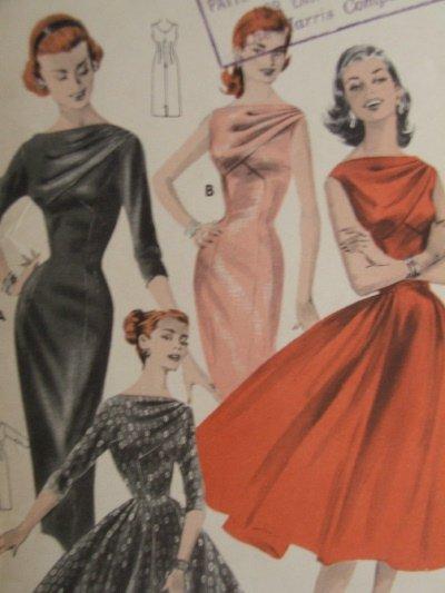Wonderful Vintage Butterick #8038 Draped Shoulder Cocktail Dress ~ Size 12