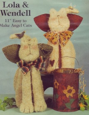 Cotton Ginnys - Lola & Wendell Angel Cats Soft Sculptured Patterns