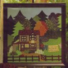 Mountain Homestead Appliqued Quilted Wallhanging & Country Pillow Pattern