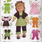 "Simplicity #2458 18"" Dolls Wardrobe Pattern"