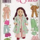 "Simplicity #5276 18"" Dolls Wardrobe Pattern"