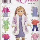 "Simplicity #4786 18"" Dolls Wardrobe Pattern"