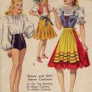 McCalls #792 Tap/Gypsy/Italian Costumes Pattern c.1940