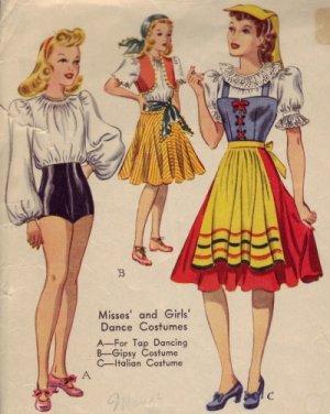 1940s McCall Dance Costume Pattern Tap, Gypsy, Itali (04/14/2010)