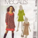 McCalls M5516 Womans Pullover Dress Sz 12-14-16-18