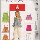 McCalls M5611 Childs Top & Pants Pattern Sz 3-4-5-6