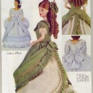 Vogue 7398 Historic Barbie Doll Dresses c.1870 and c.1880