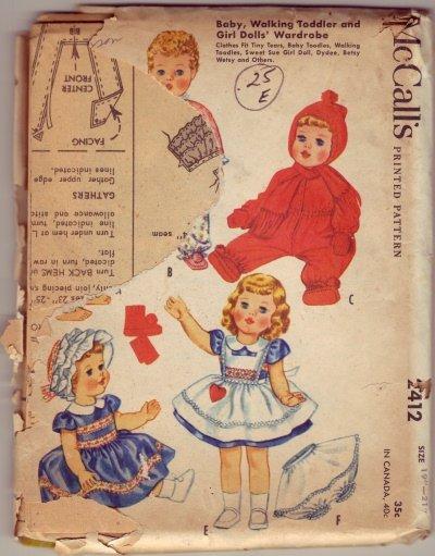 McCalls #2412 Baby Toddler Wardrobe Pattern