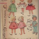 "Simplicity #4652 Chatty Cathy & Other 20.5"" Doll Wardrobe Pattern"