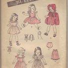 "Vintage 1930's Butterick #3626 22"" Doll Wardrobe Pattern"