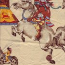 Indians on Horseback Novelty Print Fabric 2 yds x 44""