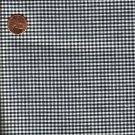 "Vintage 100% Cotton Black & White Gingham Check Fabric 6 yds x 36"" Wide"