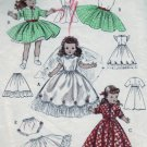 "Vintage Butterick #6759 14"" Toni and Miss Curity Doll Wardrobe Pattern"