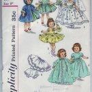 "Vintage Simplicity #2294 8"" Ginny Doll Wardrobe Patterm"
