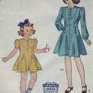 Vintage 1940's Simplicity #4031 Sz 4 Child's Dress Pattern