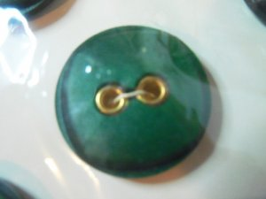 Buttons ~ Vintage 1950's Fashion Buttons Emerald Green