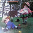 Vintage Gingham Goose Patterns - Jack & Jill Soft Sculptured Dolls Pattern