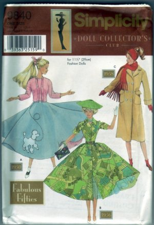 Simplicity #9840 Fabulous Fifites Barbie Pattern