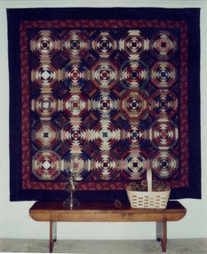 Quilt Pattern ~ Pineapple Log Cabin Full Size and Small Versions