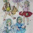"Simplicity #4909 14.5"" Toni Walker Doll Wardrobe Pattern from 1954"