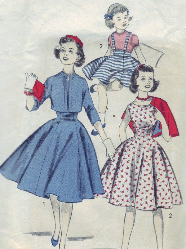 1950s Advance Pattern #8410 Size 12 Girls Jumper & Jacket
