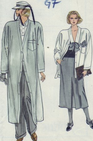 Vogue Pattern #9201 Coat, Skirt & Top Size 12-14-16
