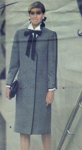 Vogue Pattern #1300 KASPER Coat Dress Size 10