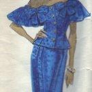 Vogue Pattern #2409 Albert Nipon Drop Shoulder Dress Sizes 12-14-16
