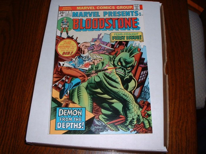 MARVEL  PRESENTS # 1..(origin Bloodstone).VF-NM..(9.0).1975-cb