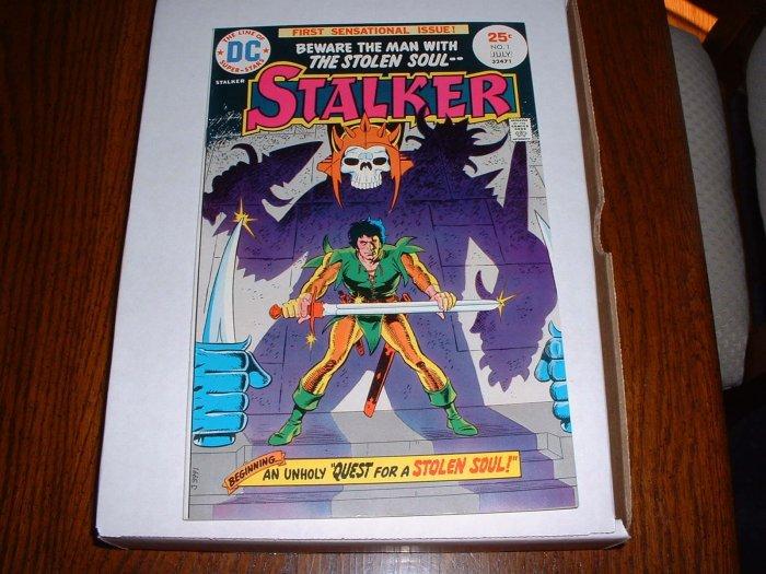 STALKER # 1..NM-..(9.2)...1975 DC comic book-Ditko+Wood-ex