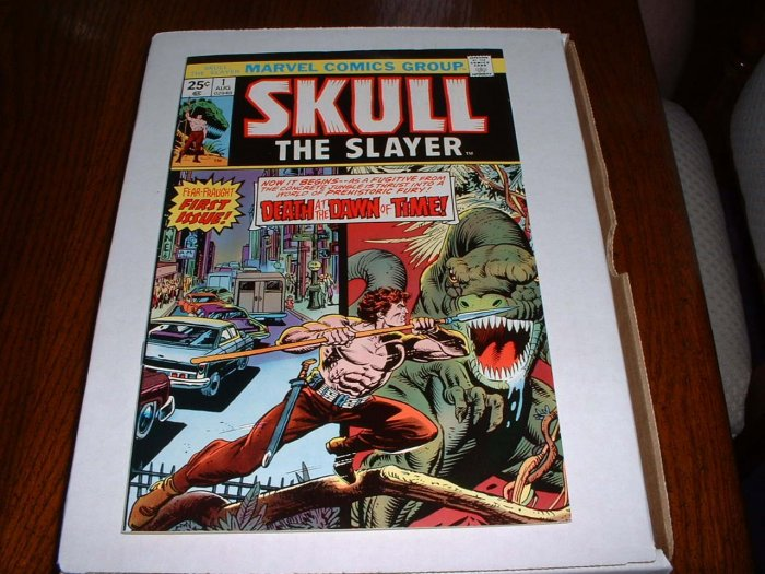 SKULL the SLAYER # 1..VF+.(8.5)..1975 Marvel comic book-bc