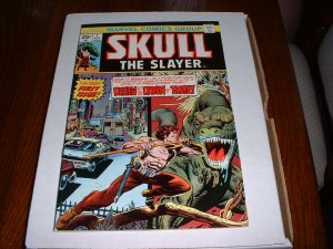 SKULL the SLAYER # 1..VF+.(8.5)..1975 Marvel comic book-bc