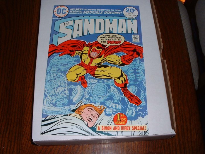 SANDMAN # 1..VF..(8.0)..1974 DC comic book--Simon+Kirby--ge