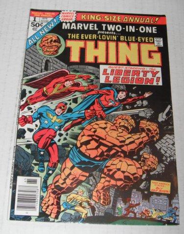 Marvel 2 in 1 Annual # 1...VF..(8.0)..1976 Marvel comic book-rg