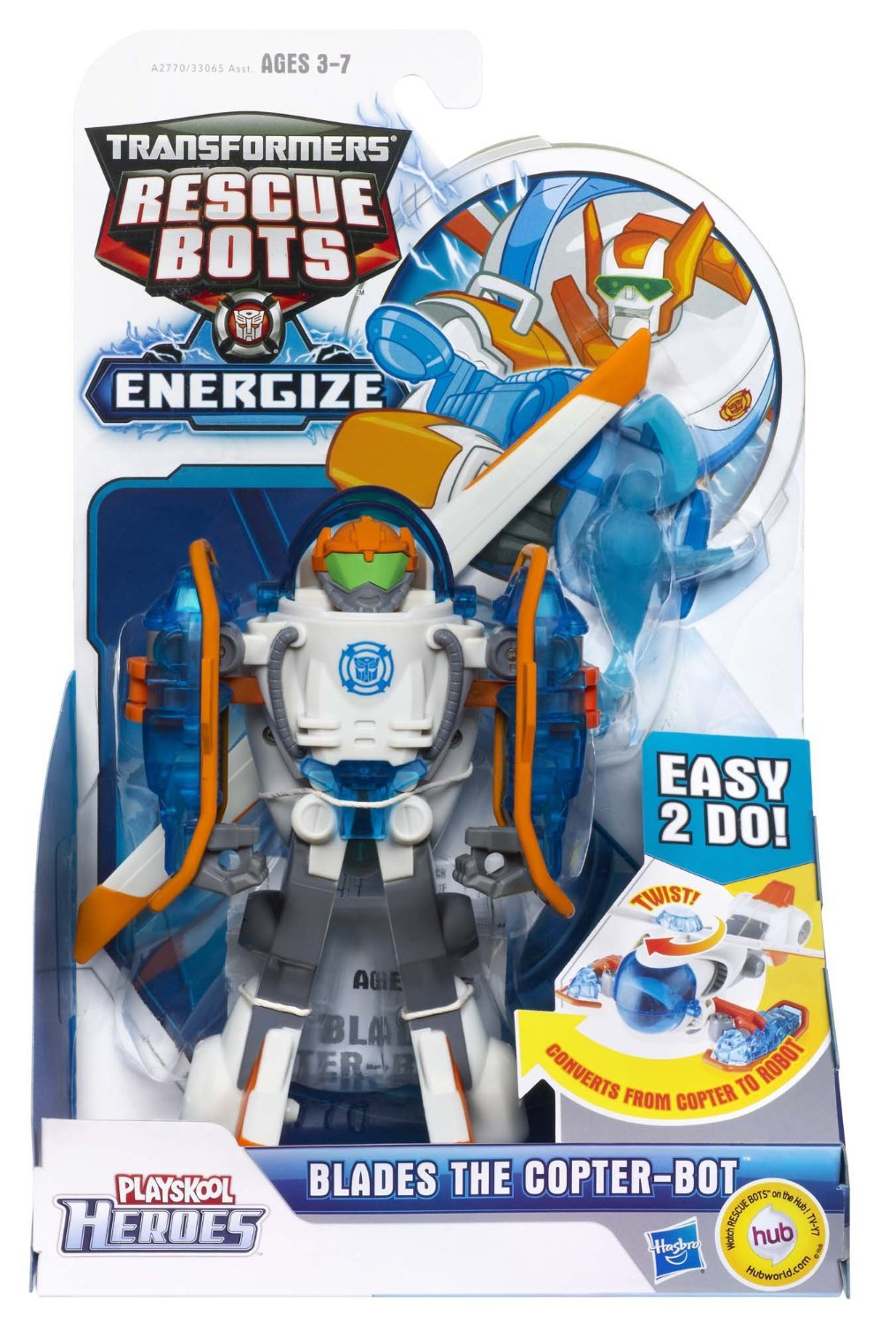 Playskool Heroes Transformers Rescue Bots Blades the Copter-Bot Figure