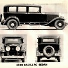 Black and White 1930 Cadillac Sedan Photo
