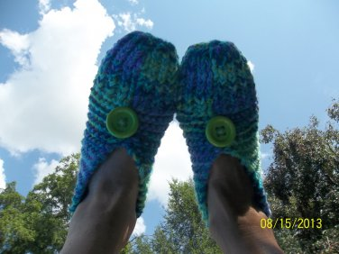 "Women's ""Wildflower"" Knitted Slippers"
