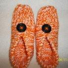Women's Halloween Orange/White  Slippers