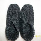 Man's Gray/Black Knitted Slippers-Size 9 -11