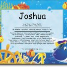Ocean Pals Personalized Gift First Name Meaning Print