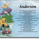 Skateboarding Personalized Gift First Name Meaning Print