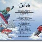 Snow Sports Personalized Gift First Name Meaning Print