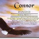 Soaring Eagle Personalized Gift First Name Meaning Print
