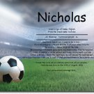 Soccer Personalized Gift First Name Meaning Print