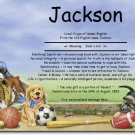 Sports Puppies Personalized Gift First Name Meaning Print
