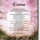 Spring Blossom Personalized Gift First Name Meaning Print